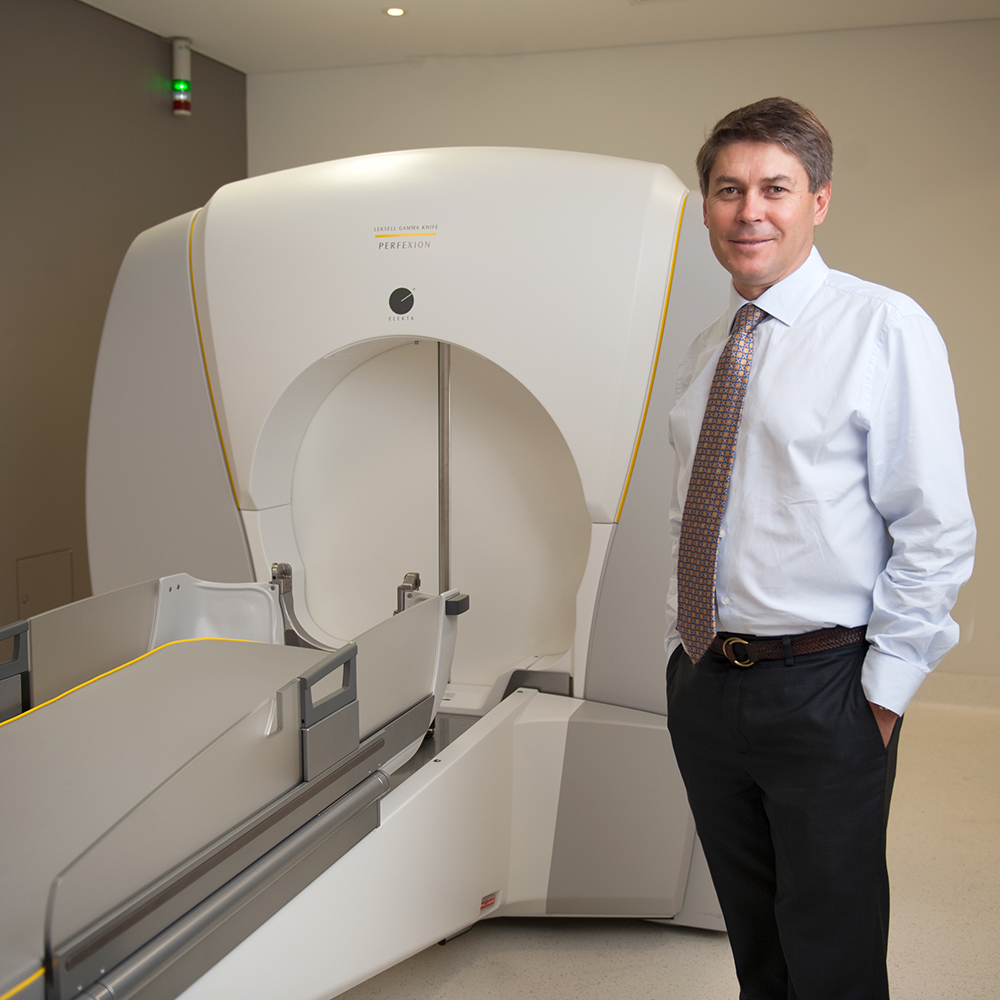 The Gamma Knife is a specialised treatment machine designed to provide stereotactic surgery to a highly defined target within the brain.